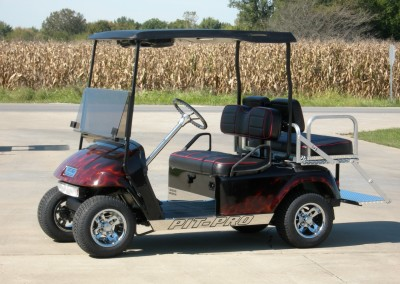 Black with flames Pit-Pro EZGO TXT