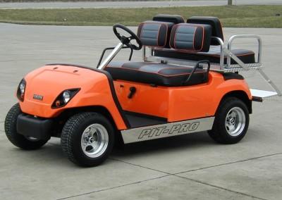 Orange Pit-Pro Yamaha Roadster