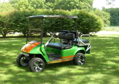 Green and Orange Pit-Pro EZGO