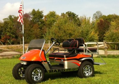Orange and Silver Pit-Pro EZGO