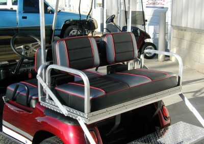 Heavy Duty Rear flip seat – Diamond Plate/Custom Covers
