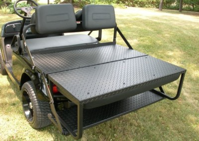 HEAVY DUTY – Black Diamond Plate Rear Flip Seat