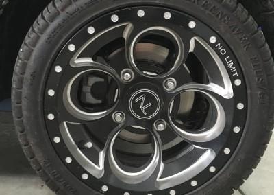 12″ Matte BLK Positive w/Bullet Rim Wheels – No Limit Revolver