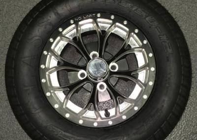 12″ Venom Matte Black, Positive Style w/ Bullet Rim Wheels – No Limit