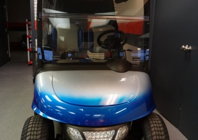 Custom airbrushed paint – Blue and Silver