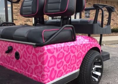 Pink Leopard Custom Wrap & Custom Seats