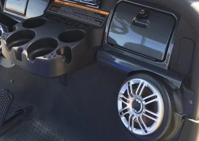 Speaker Pods, Radio & Carbon Fiber Dash