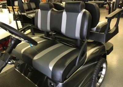 Tsunami Deluxe Custom Seats (Front), Black/Silver/Gray