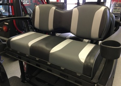 Custom Seats Tsunami Black Silver Grey Madjax Rear Seat X