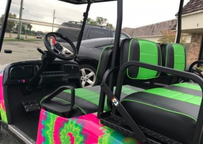 Lime Green / Black Custom Seats